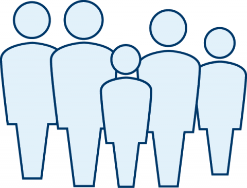 Graphic of a family