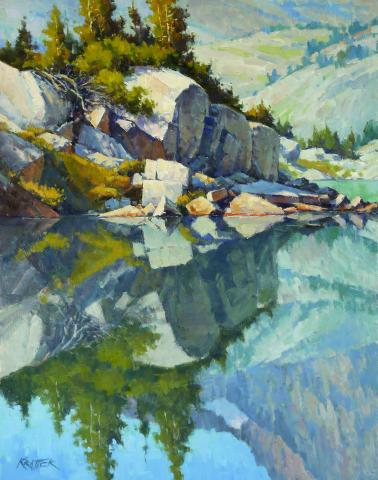Paul Kratter, Mirror Pond, oil