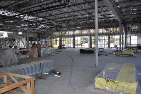 Lobby looking towards fitness and pool areas as of 6/9/14