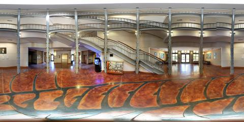 360-degree view of Brosseau Hall.