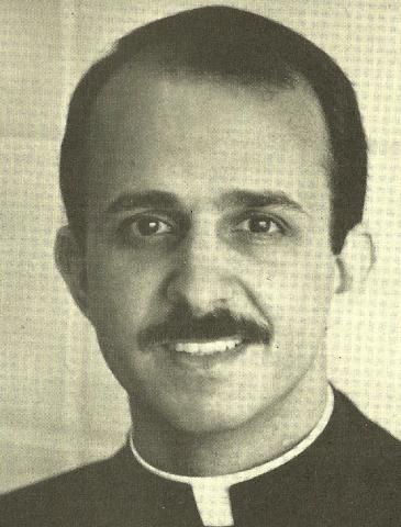 Father Sal as a young priest