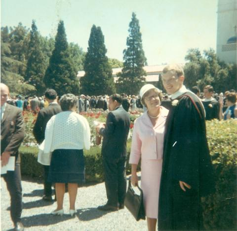 Rich Wecker '66 and his mother