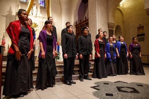 The Saint Mary's College Chamber Singers sang both the opening and the closing prayers at Convocation.