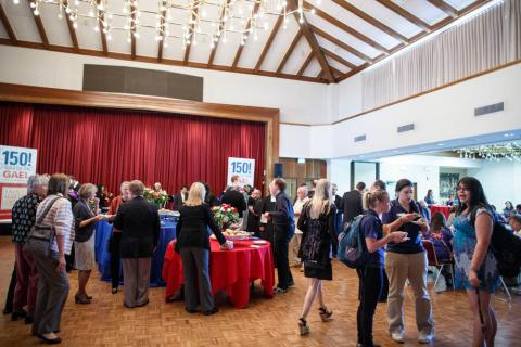 The SMC community was invited to a reception in the Soda Center after this year's Convocation.