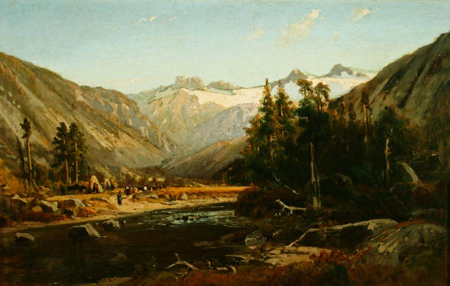 William Keith, Mount Lyell, California Sierra, 1874, Oil on canvas, 16 ¼ x 25 ¼ inches, Collection of Saint Mary's College Museum of Art,  College purchase, 0-12