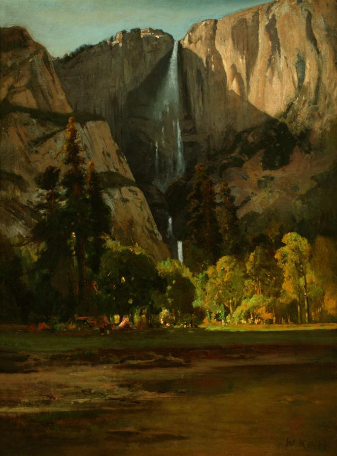 William Keith, Yosemite Falls, 1870s or early 1880s, Oil on canvas, 24 x 18 inches, Collection of Saint Mary's College Museum of Art,  Gift of Mrs. Annabelle Rose, 0-161