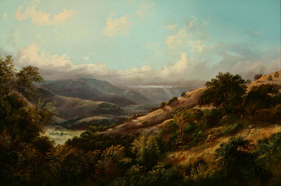 William Keith, San Anselmo Valley Near San Rafael, 1868-1869, Oil on canvas, 24 x 36 inches, Collection of Saint Mary's College Museum of Art, Gift of Adrienne Williams, 1973, 0-168