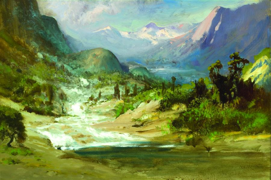 William Keith, Hetch Hetchy Valley, 1907-1910, Oil on canvas, 16 x 24 inches, Collection of Saint Mary's College Museum of Art,  0-177