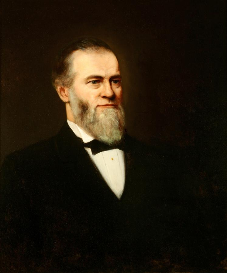 William Keith, Dr. Charles Blake, 1822-1898, circa 1890-1899, Oil on canvas, 30 ¼ x 25 ¼ inches, Collection of Saint Mary's College Museum of Art,  Gift of Reuben Lloyd Blake, DDS, FACD, 1954, 0-47
