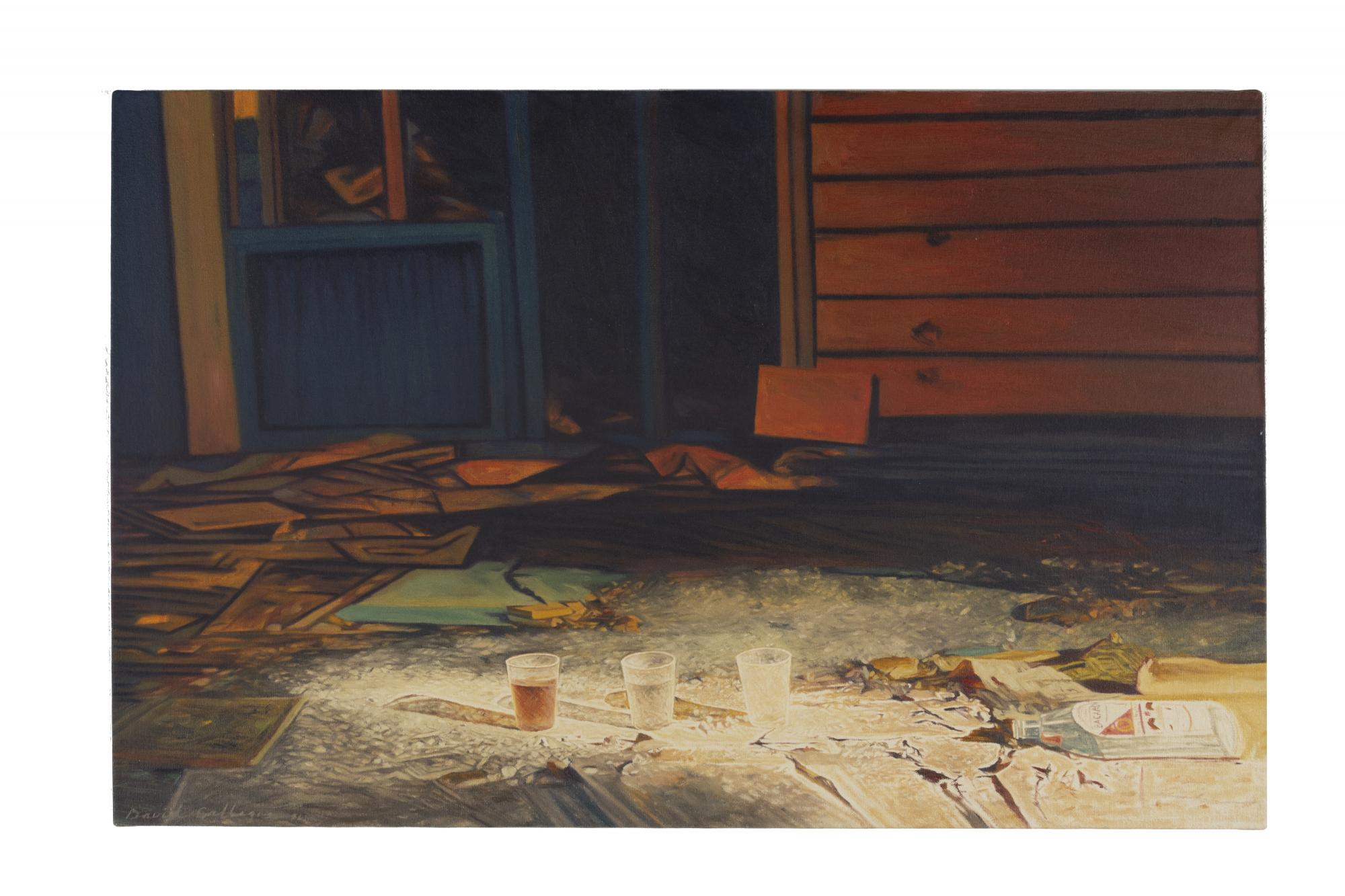 David Maes Gallegos, (b. 1954) United States, Bacardi, 1986, Oil on canvas, Gift of the Artist  [1.2015.10]