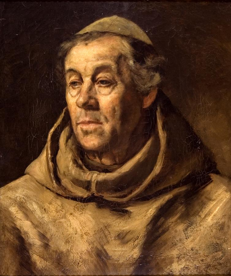 William Keith, Portrait of a Monk (Franciscan Friar), circa 1882-1885, Oil on canvas, 20 ¼ x 17 ¼ inches, Collection of Saint Mary's College Museum of Art,  Gift of John Ritchie, 2007.11