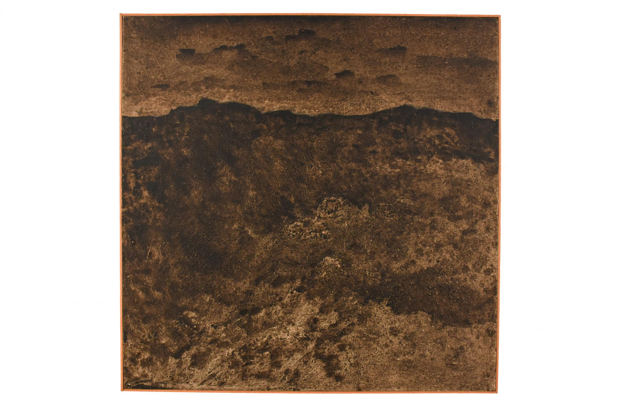 Louis Siegriest (1899-1989) United States, Cimarron Canyon, 1973, Asphalt, gypsum, and oil (mixed media) Gift of Suzanne and Laurellee Westaway [2012.14;109]