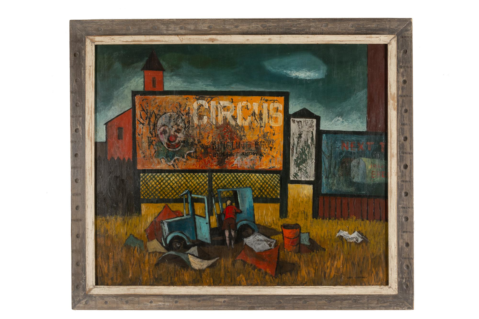 Lundy Siegriest (1925–1985) United States, Scraped Billboards, c. 1950, Tempera on canvas, Museum purchase [2012.15.1;s007]