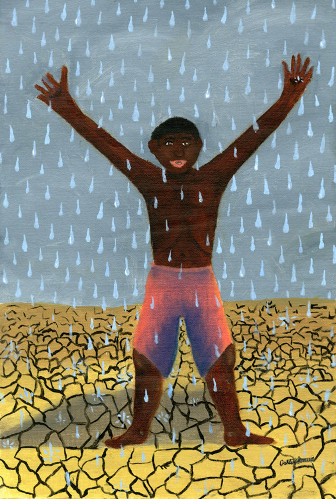 Rejoice in the Rain, Ashley Straub, age 11 Omaha, Nebraska (Submitted Independently), 2013 River of Words Finalist