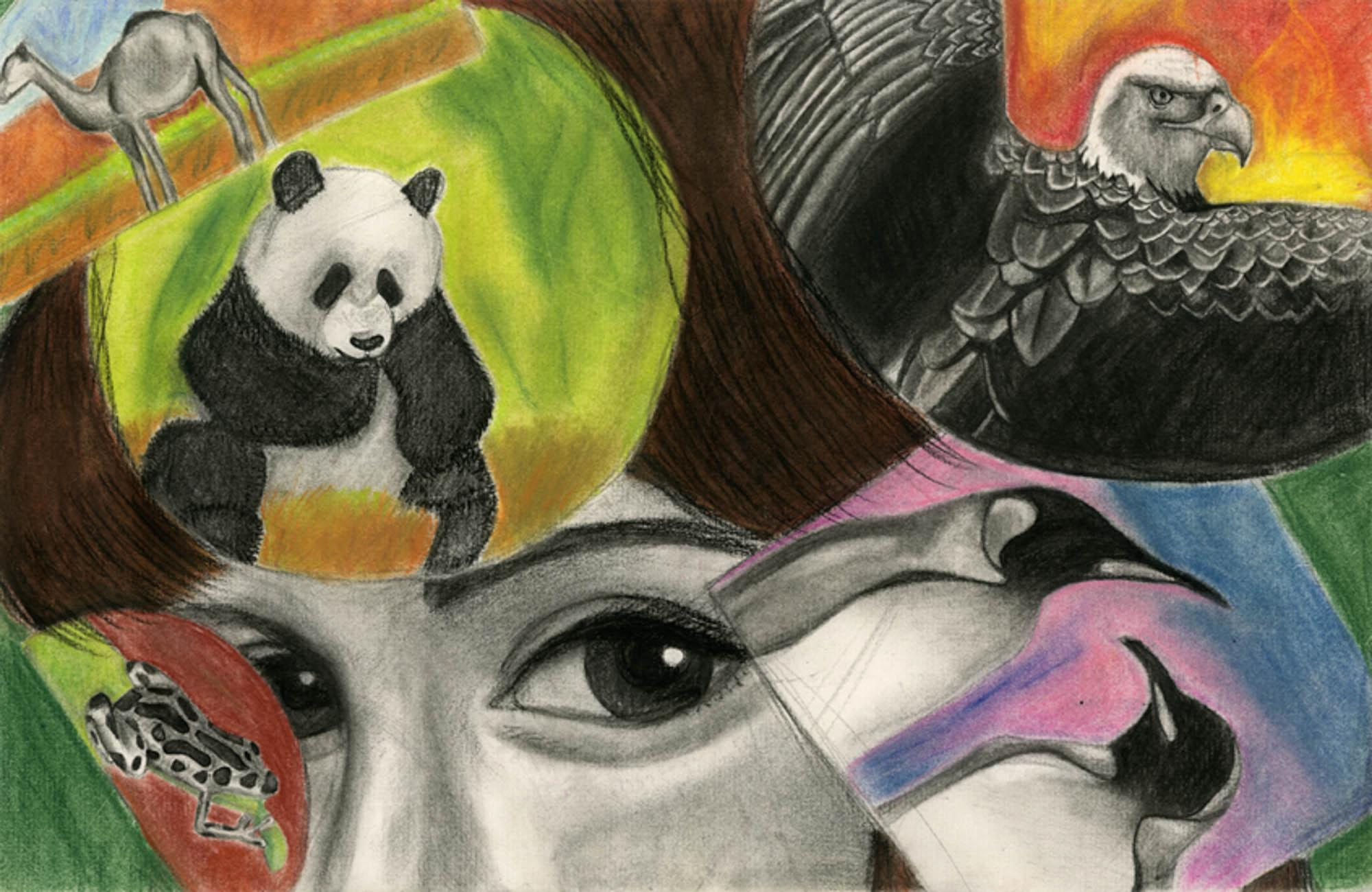 Love, Jennifer Zhuge, age 13 Palo Alto, California Triangle Art Studio Teacher: Paul Chen, 2013 River of Words Art Grand Prize Winner, Category III