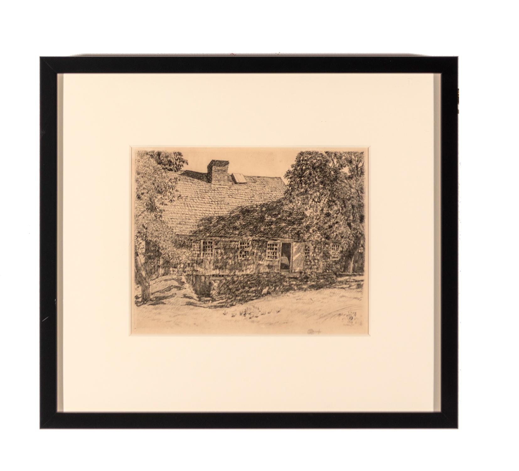 Childe Hassam (1859–1935) United States, The Old Mumford House, 1926, Etching, Bequest of Dr. Maurice A. Alberti [2014.11.27]