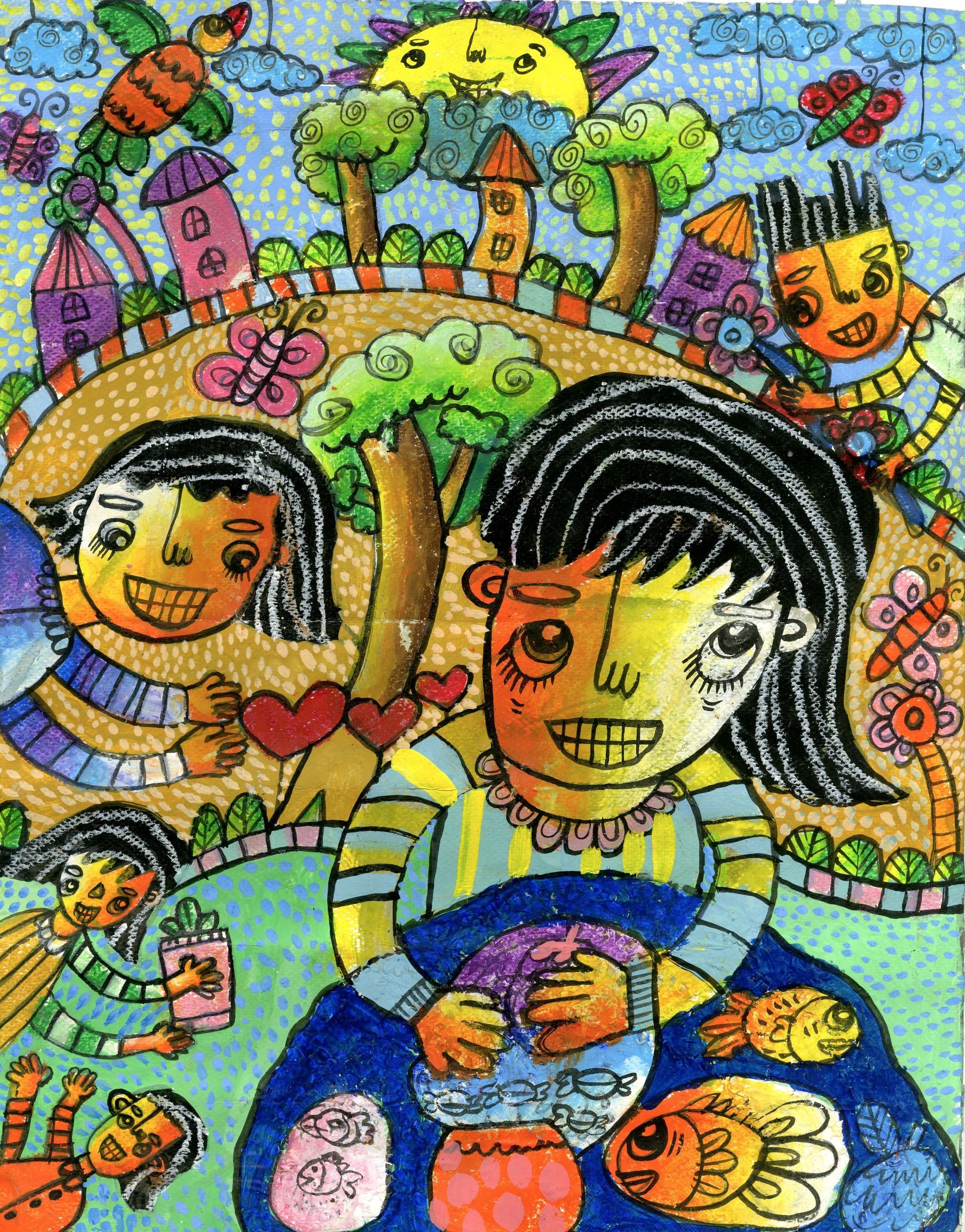"2015 River of Words Finalist ""A Day at the River with My Family"" Maria Angelica Tejada, age 9. Quezon City, Philippines"