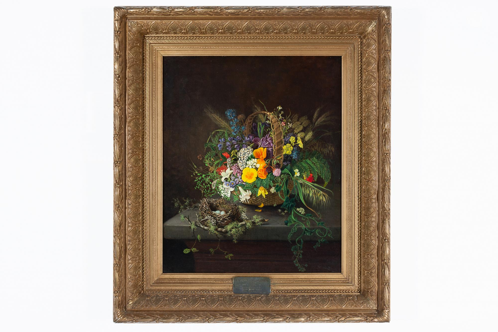 Elizabeth Emerson Keith, United States, 1838-1882. California Wildflowers, 1872. Oil on canvas. Gift of Alice Scott-Knight in memory of Laura Hood Scott; conservation treatment sponsored by Mr. and Mrs. Valentine Brookes. 2015.7