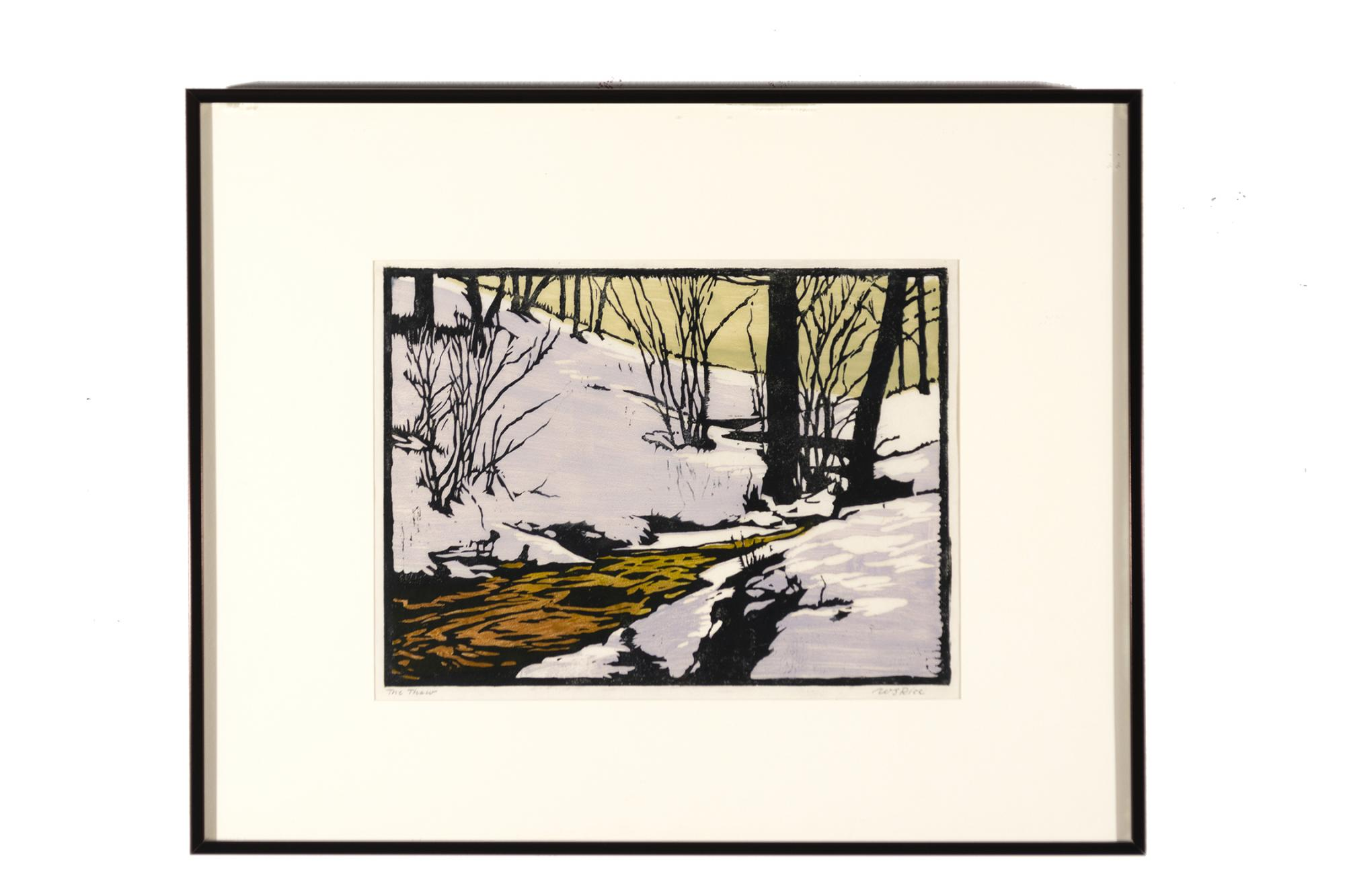 William S. Rice (1873–1963) The Thaw, c. 1920, Color woodcut, College purchase [85.1]