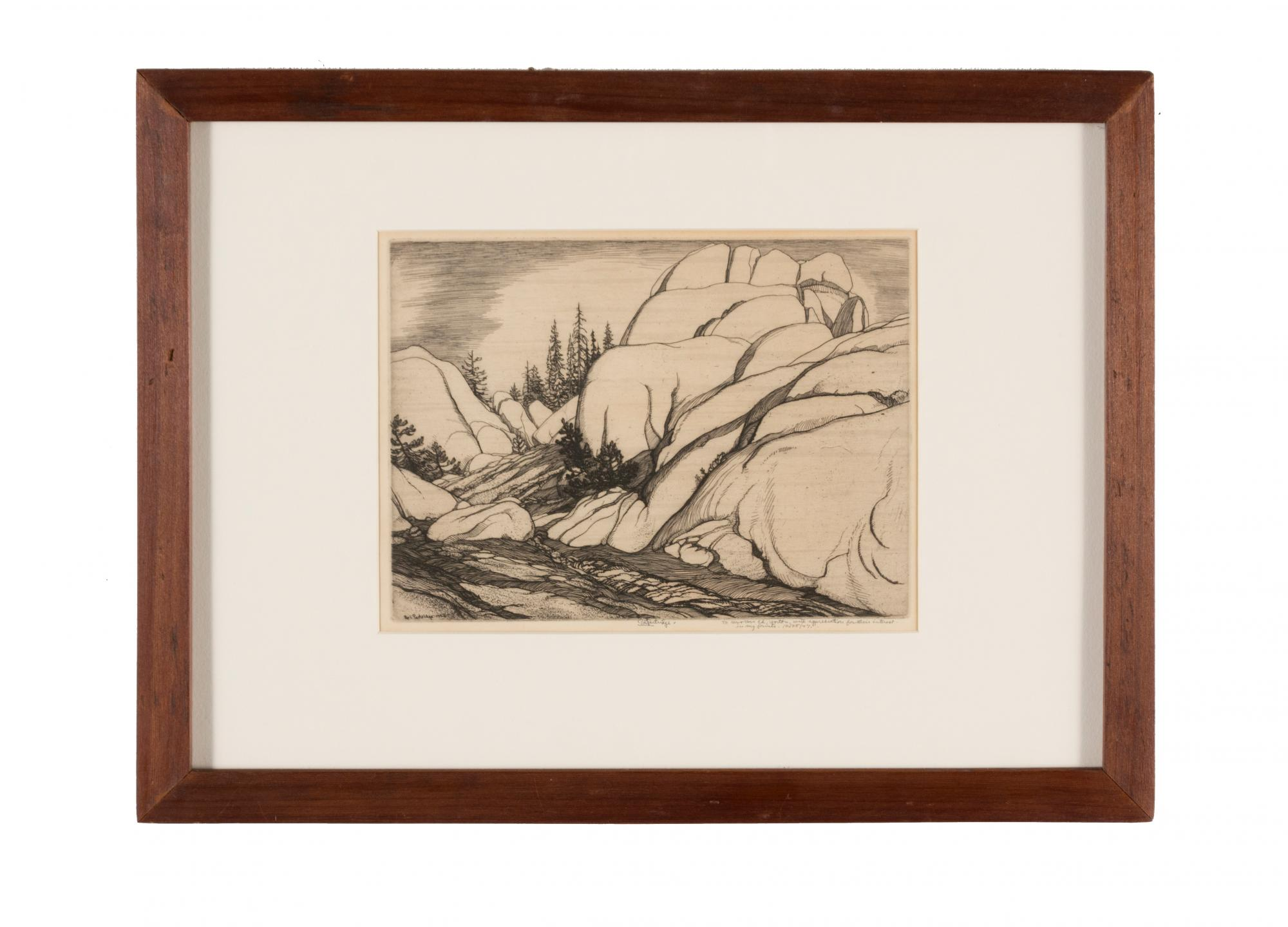 Roi Partridge (1888–1984) United States, Granite at White Wolf, 1932, Etching on copper, Gift of the Edward and Claudine Horton Family [98.9.4]