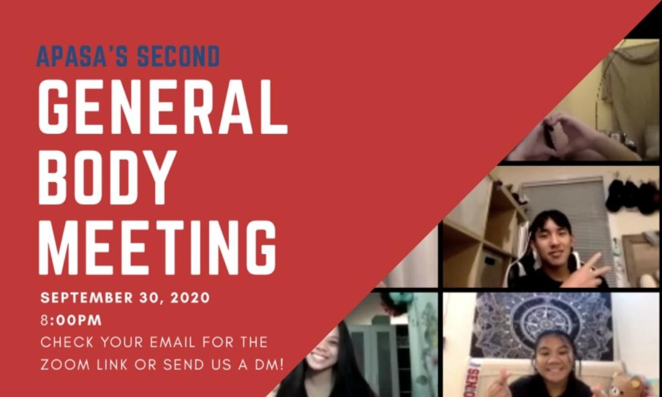 APASA 2nd General Body Meeting