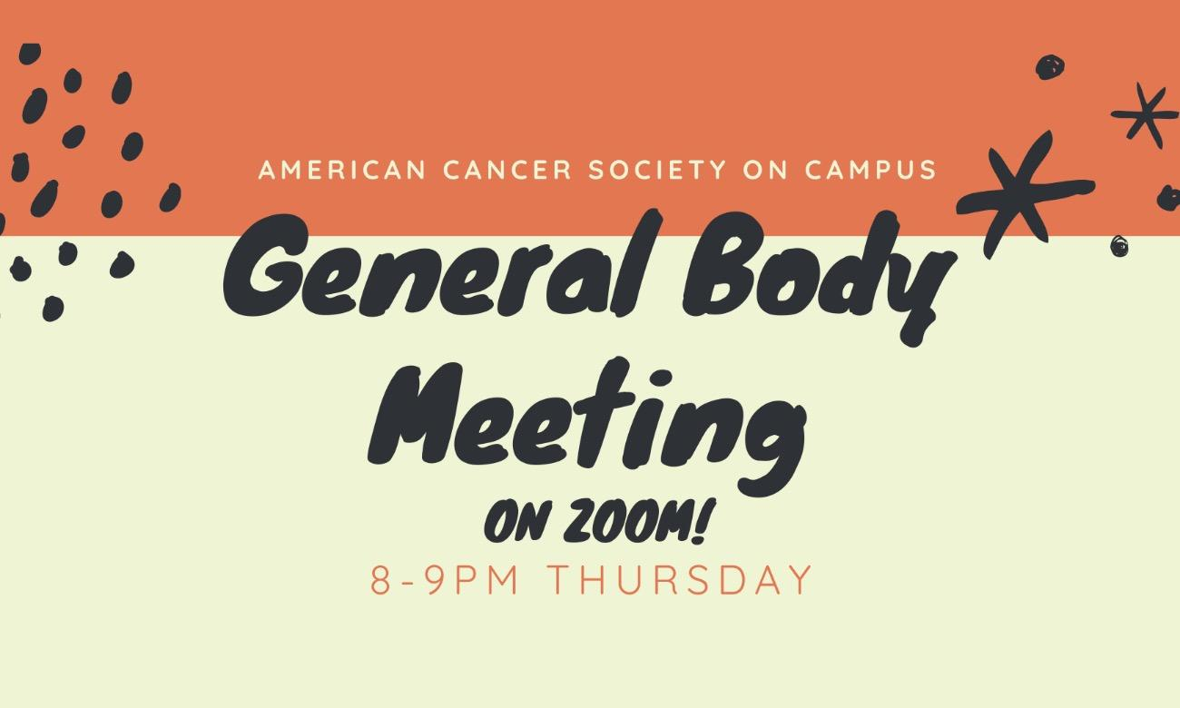 American Cancer Society General Body Meeting