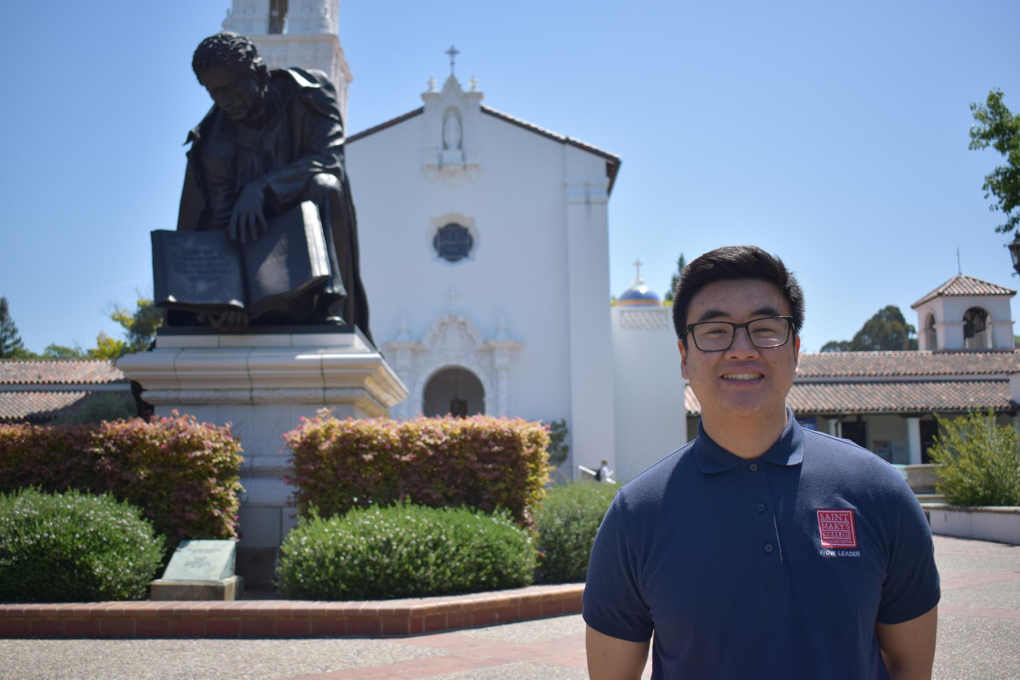 Howdy, my name is Bonaventure from El Dorado Hills, CA. I'm studying Biochemistry. In addition to being an Orientation Leader, I am also involved with the Honors Program at Saint Mary's. I look forward to seeing your faces at Orientation!
