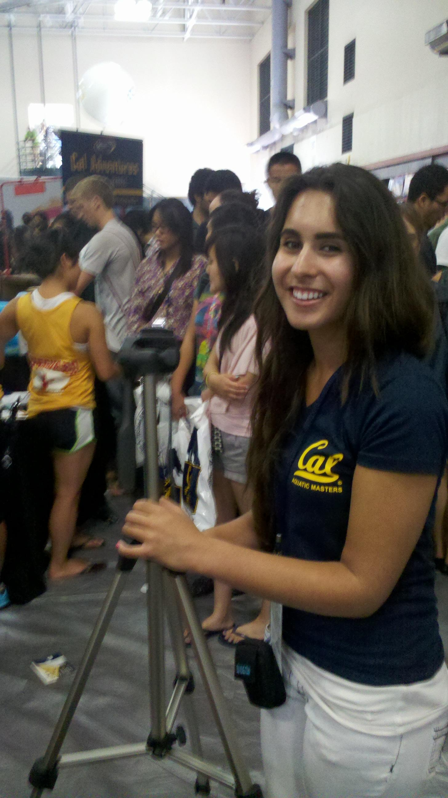 Chrissy Galli, at Caltopia 2012 as part of her internship with Rec. Sports at the University of California, Berkeley.
