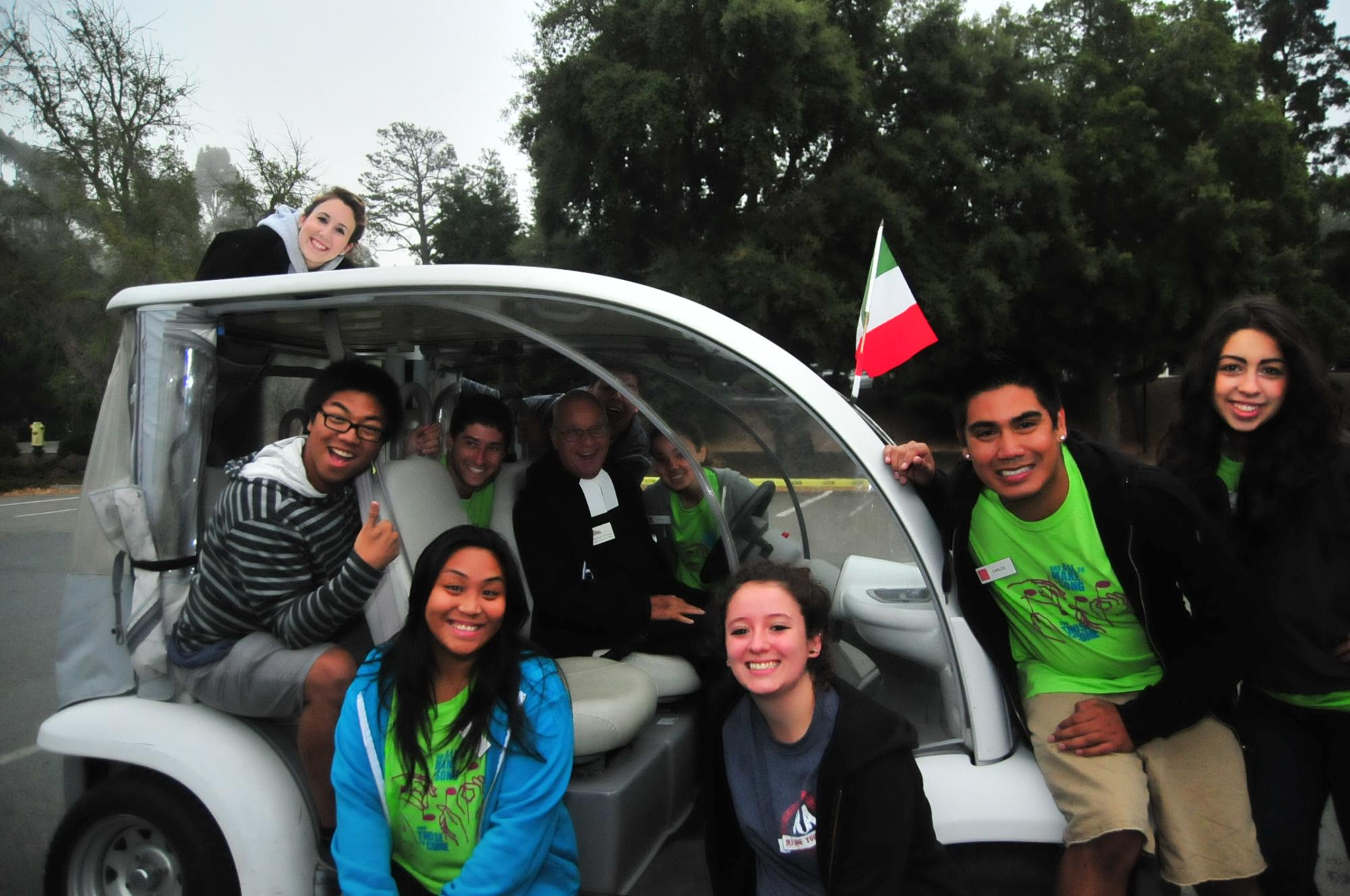 Weekend of Welcome Staff, Brother Dominic and the Bro-Mobile