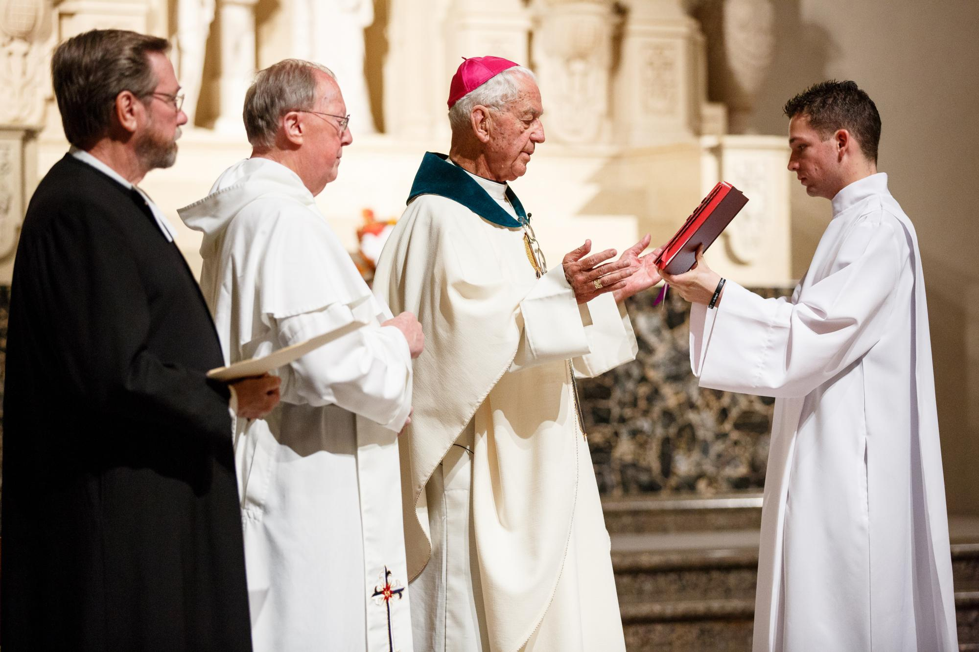 Affiliation ceremony for Father Patrick LaBelle '61