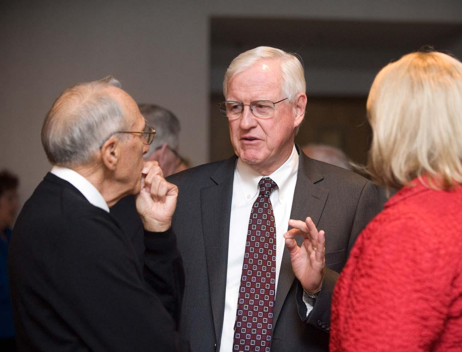 President James A. Donahue and attendees.