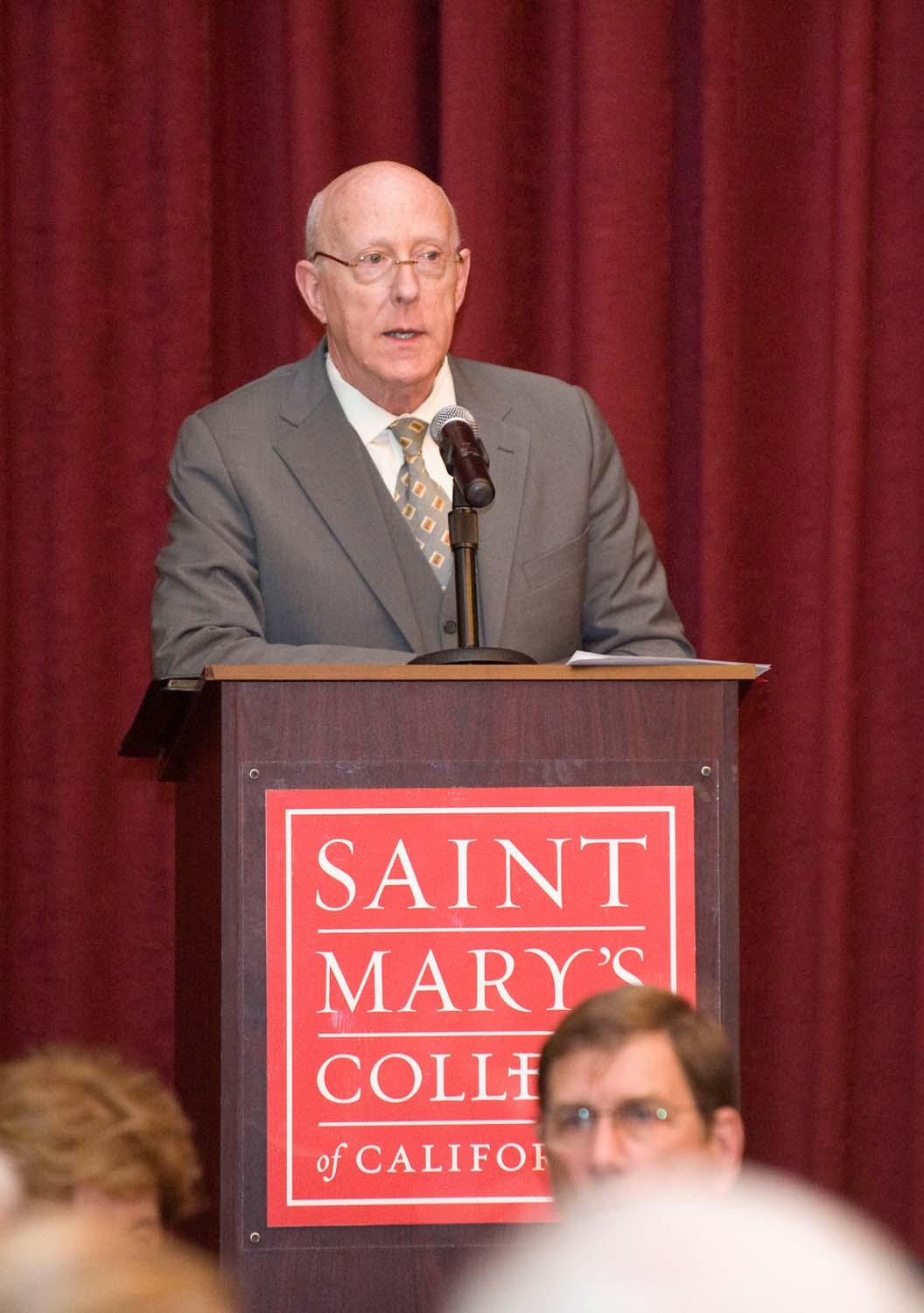 Dean of the School of Liberal Arts Steve Woolpert set the stage for the symposium.