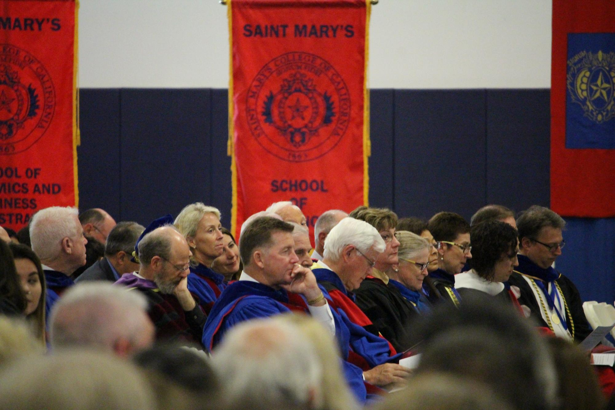 Rooted in the Catholic, Lasallian and Liberal Arts tradition at Saint Mary's, each year SMC community members gather on the eve of Commencement to give thanks, praise and reflect on the gifts given and received by students during their time at the College.