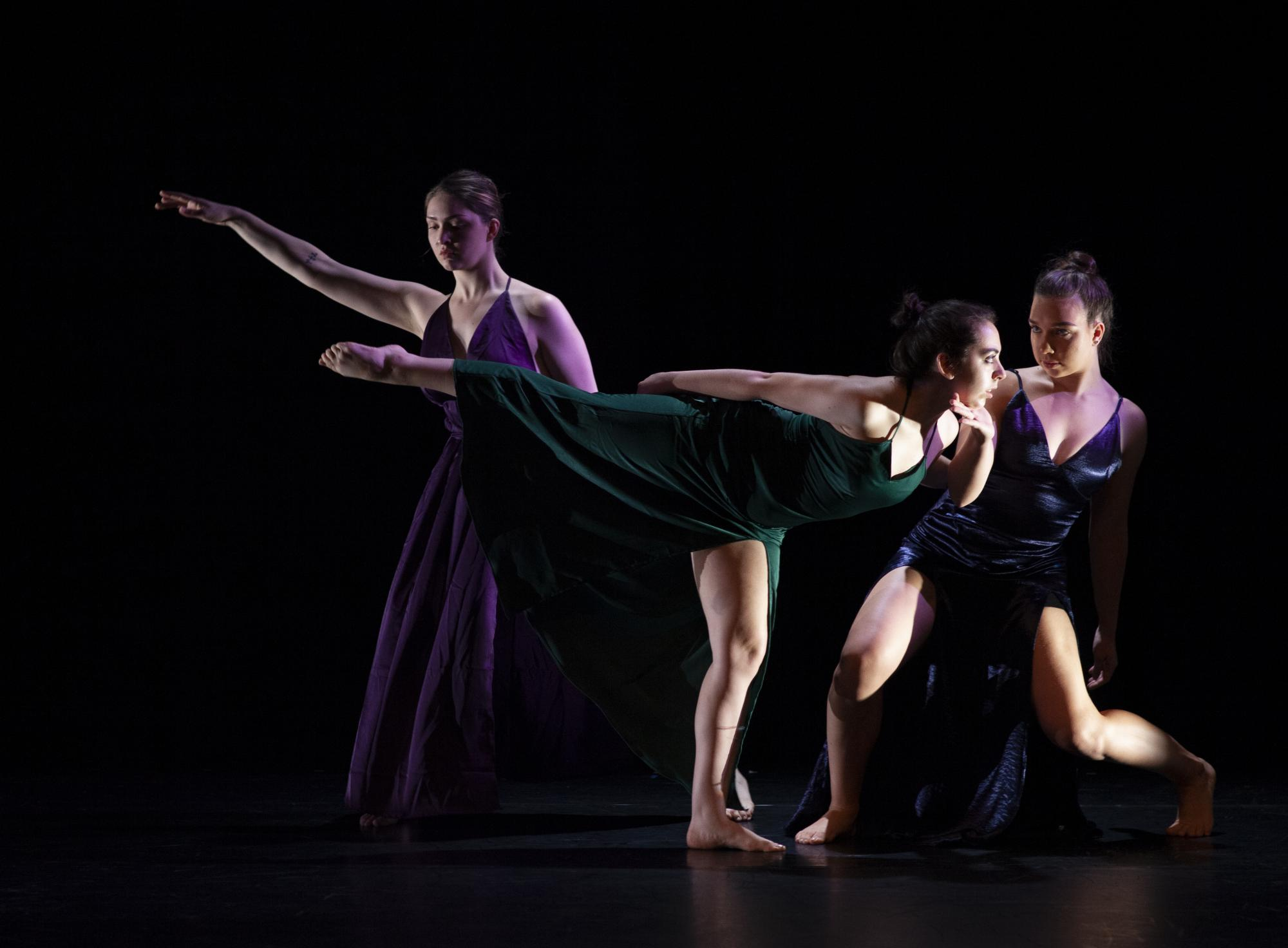 """Catalina O'Connor doing modern dance in Spring 2019 Dance Concert """"Dances From the Heart"""""""