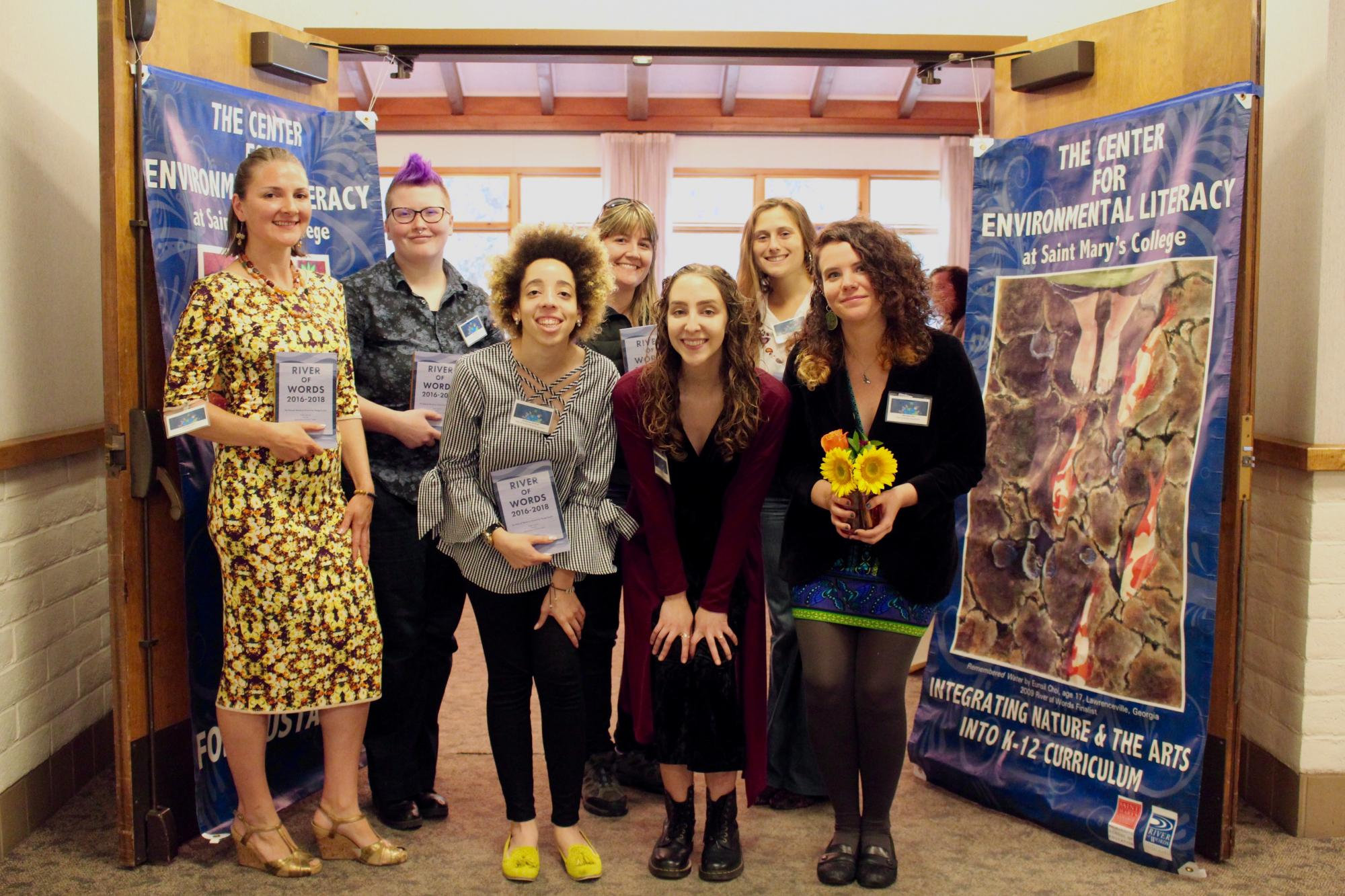 2018 River of Words winners and finalists at the 2018 River of Words Award Ceremony at Saint Mary's College of California's Claeys Lounge: April 29th, 2018. Photography by Adriana Avila