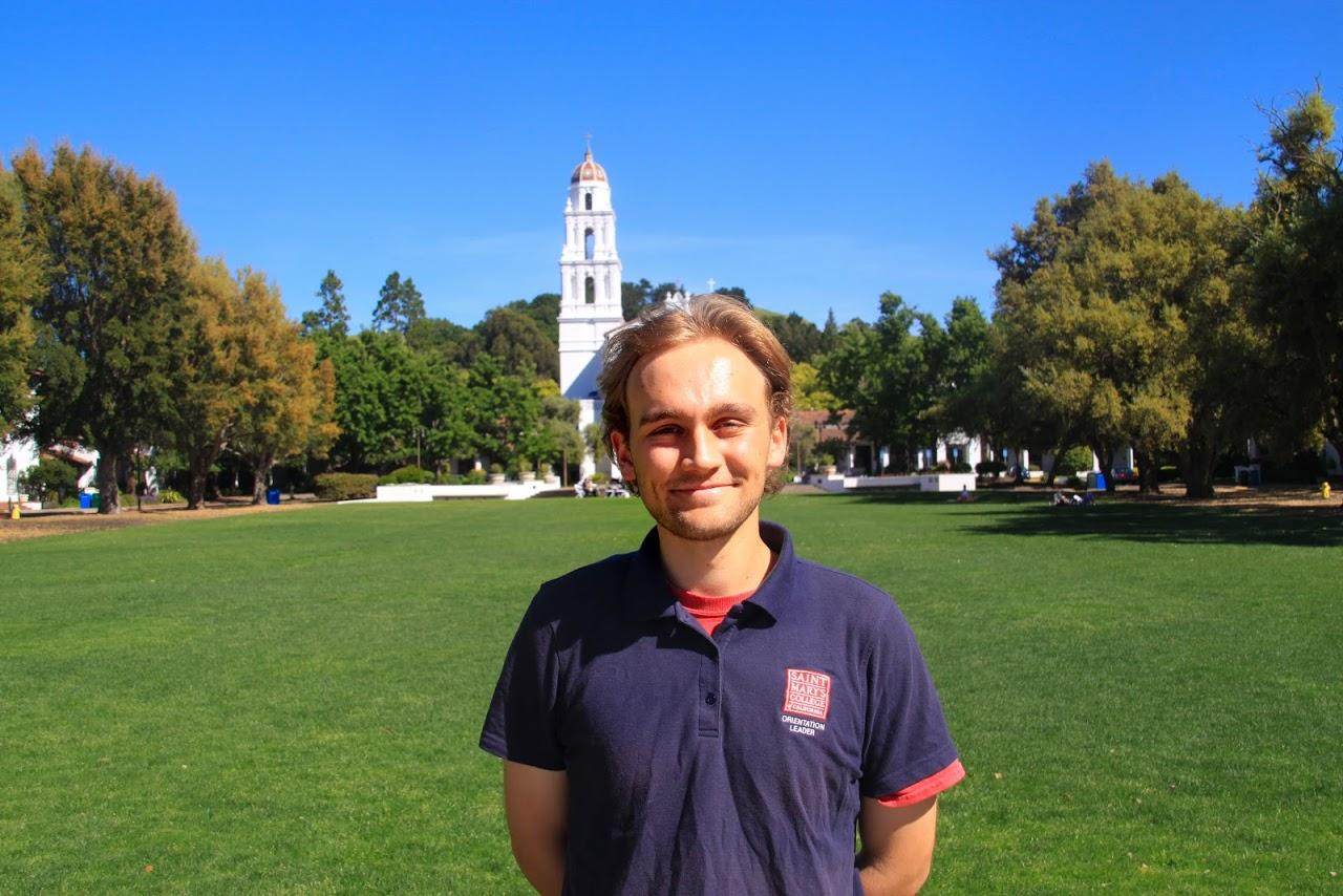 Hi my name is John Mancini but everyone calls me JD. I'm from Marin County, California and am planning to be a Politics major. I also intend to minor in History and I play Club Baseball here at Saint Mary's. I look forward to meeting you all and introducing you to SMC!
