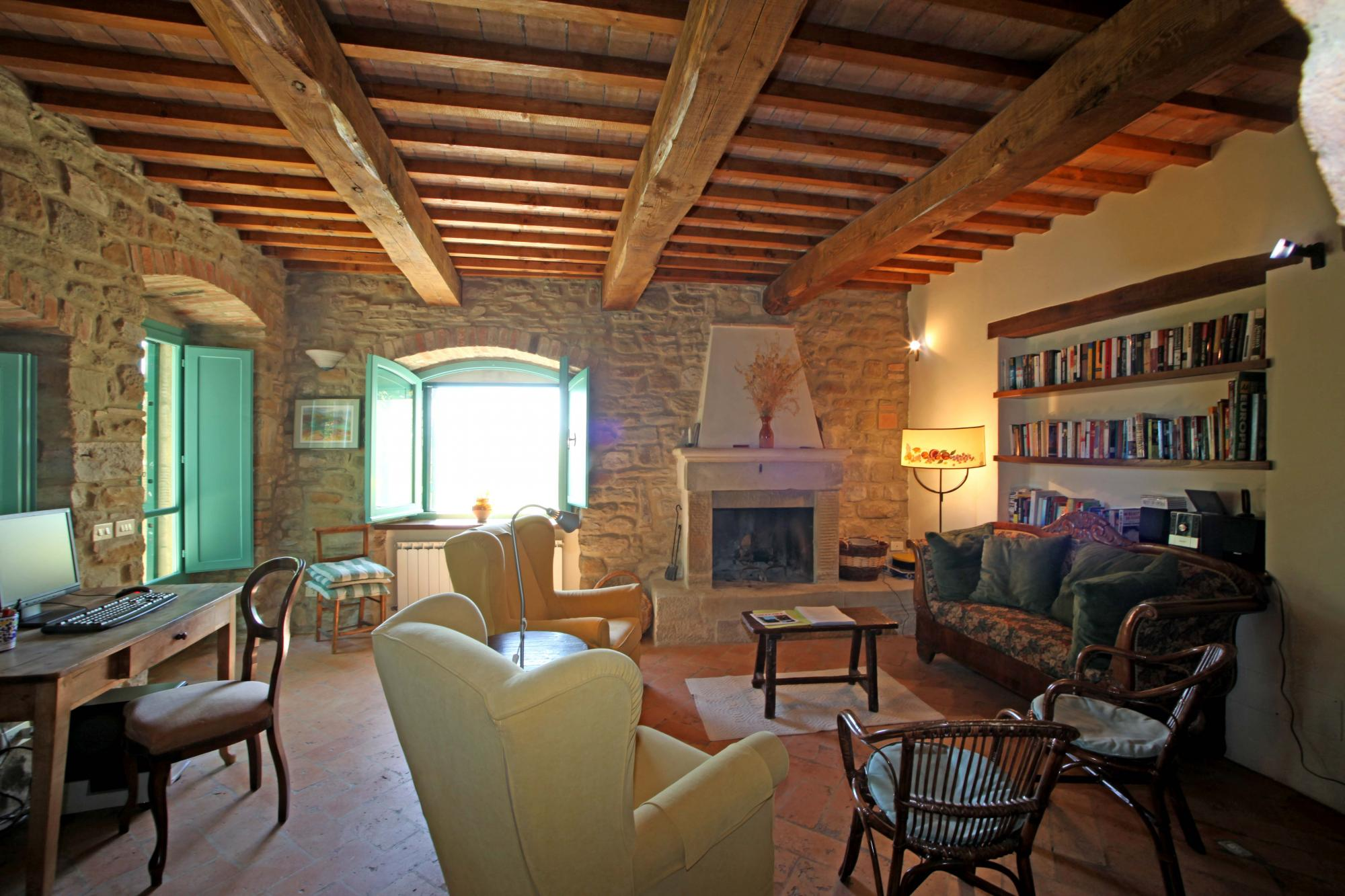 Downstairs living area  La Quercia villa