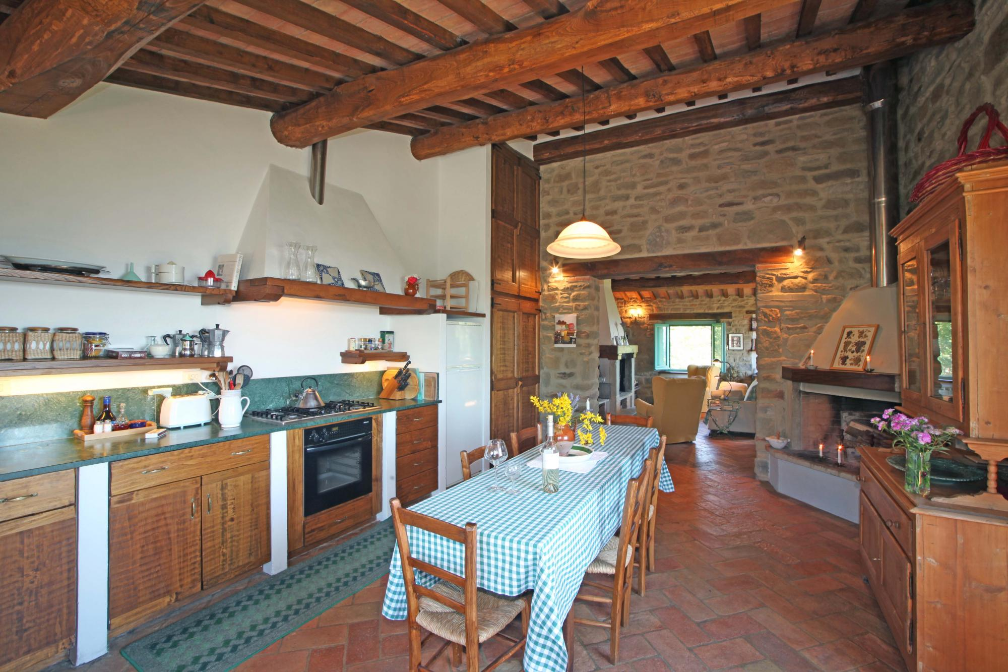 La Quercia villa upstairs kitchen
