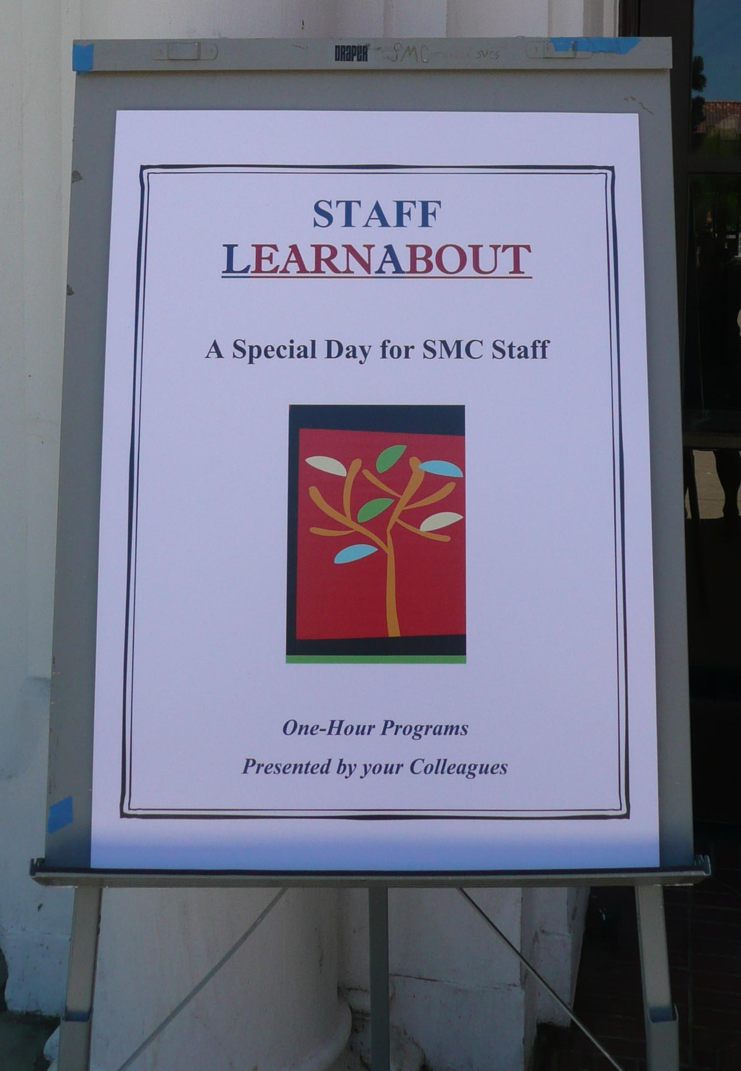 LearnAbout offered a daylong schedule of workshops by staff and for staff.