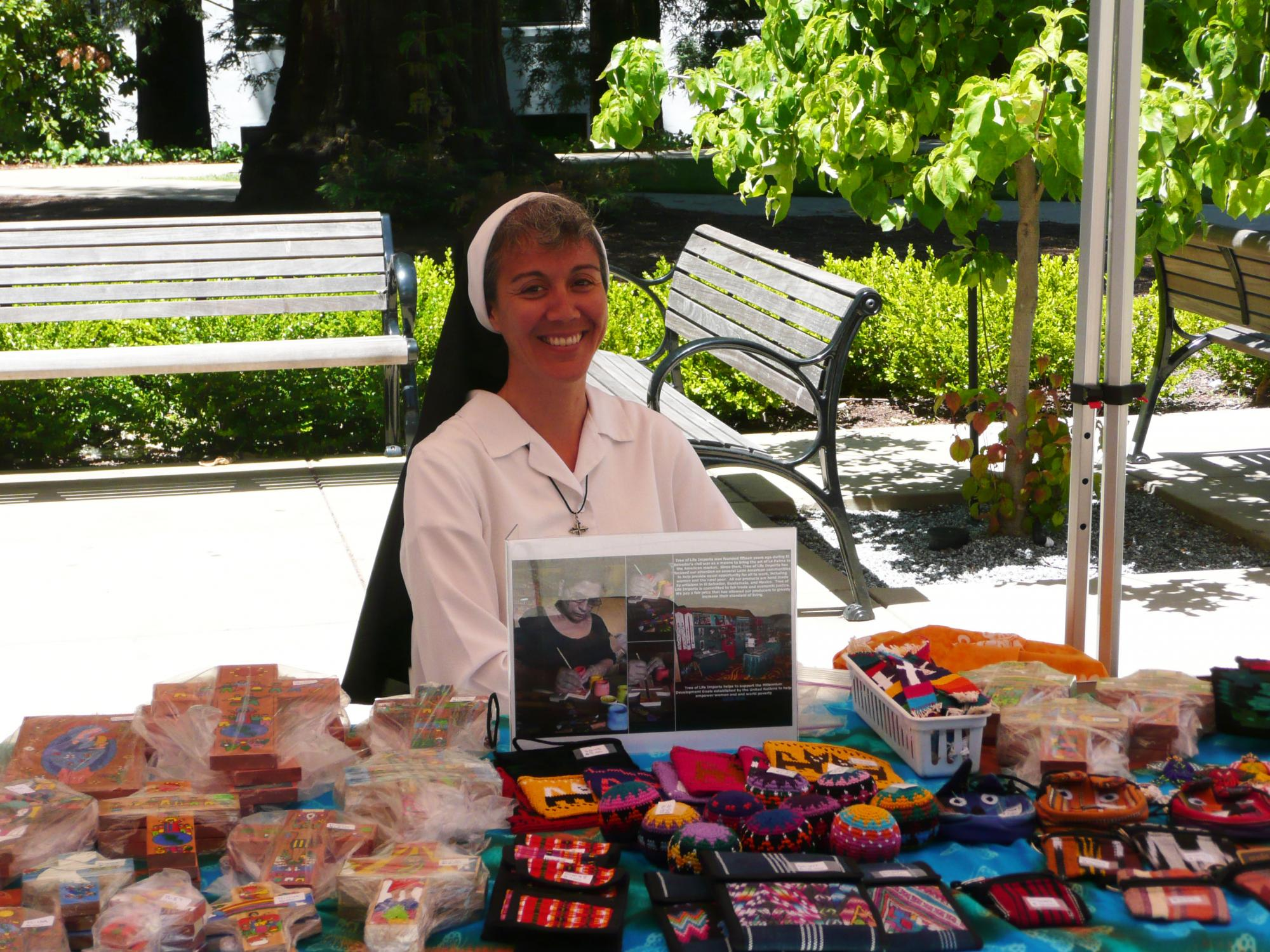 Sister Jodi Min shared her fair-trade products.