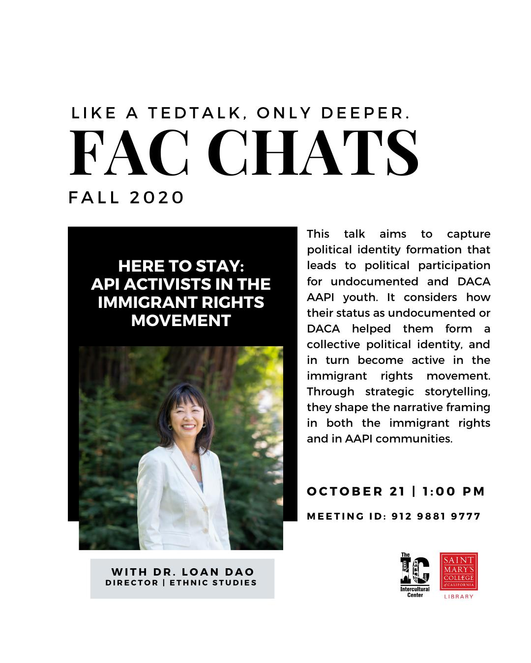 FAC CHAT with Dr. Loan Dao