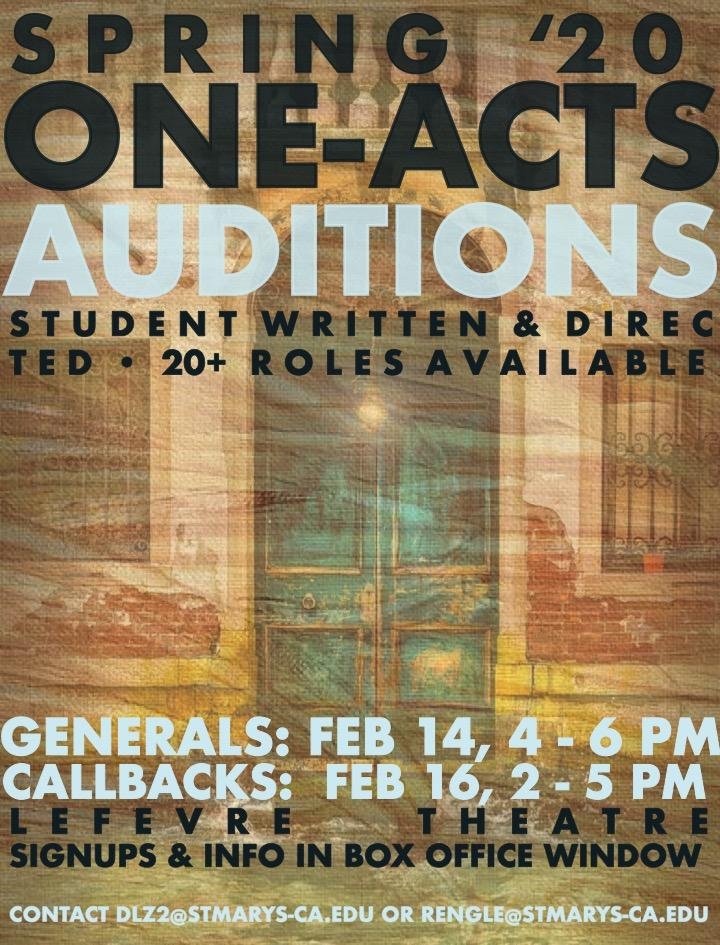 One Acts Auditions