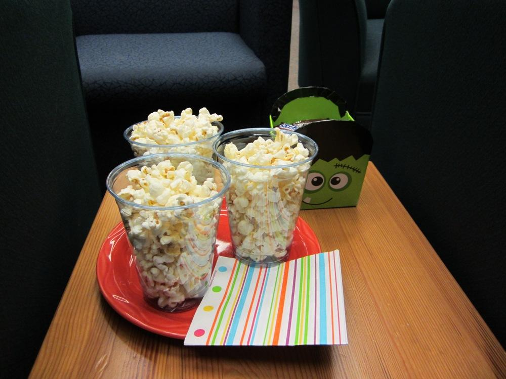 Popcorn and candy for all.