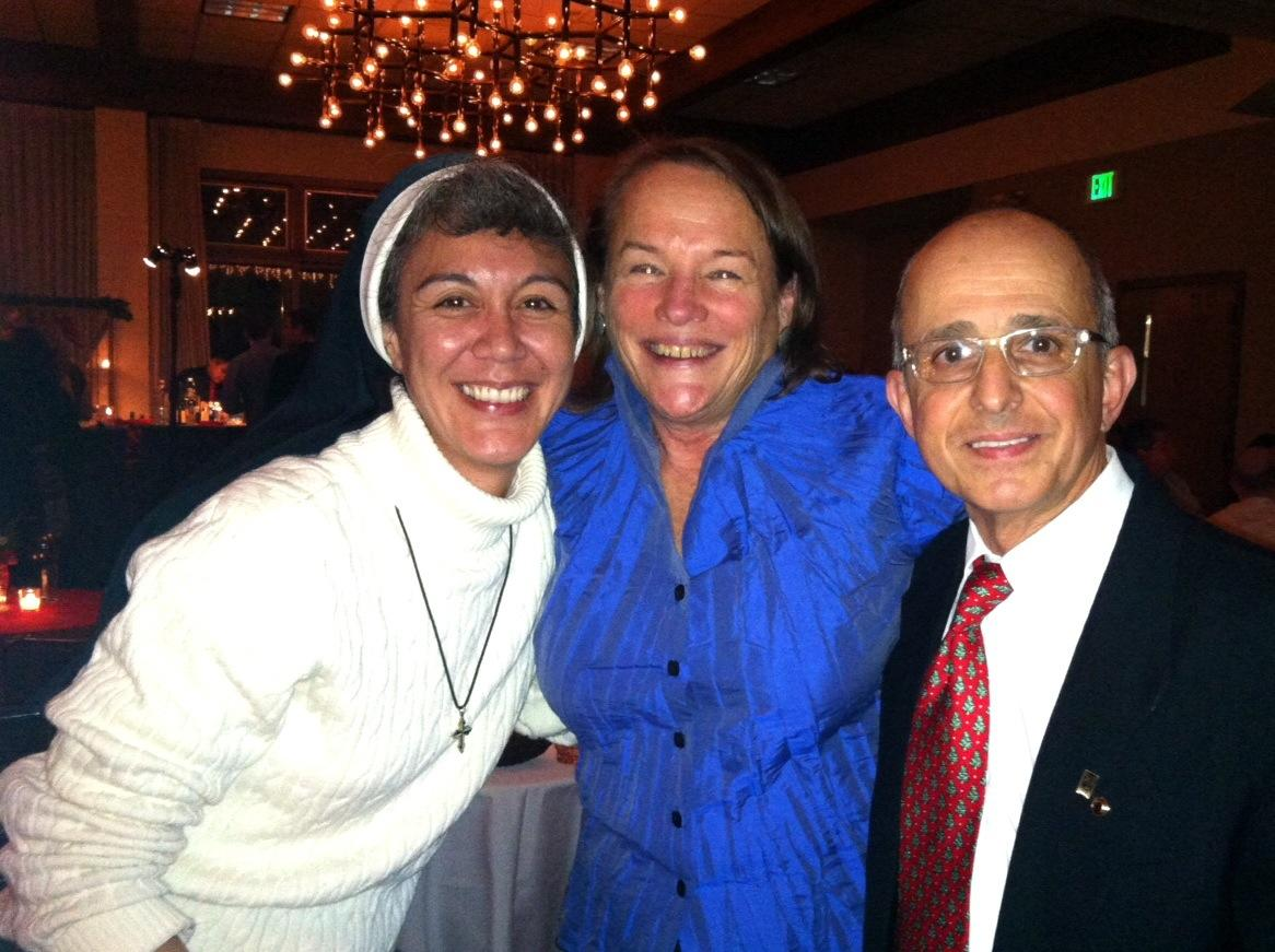 Father Sal with Sister Jodie and Pamela Thomas
