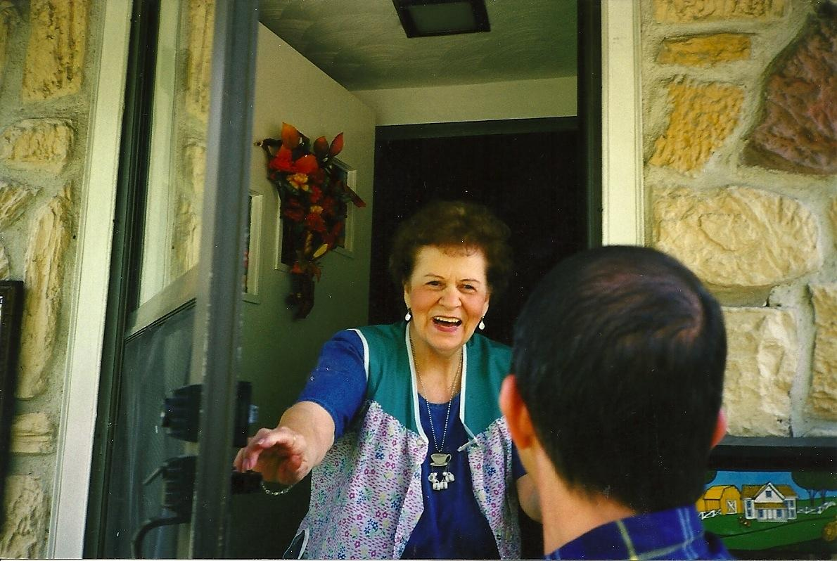 Mom welcomes him home (ask him to tell you the story)