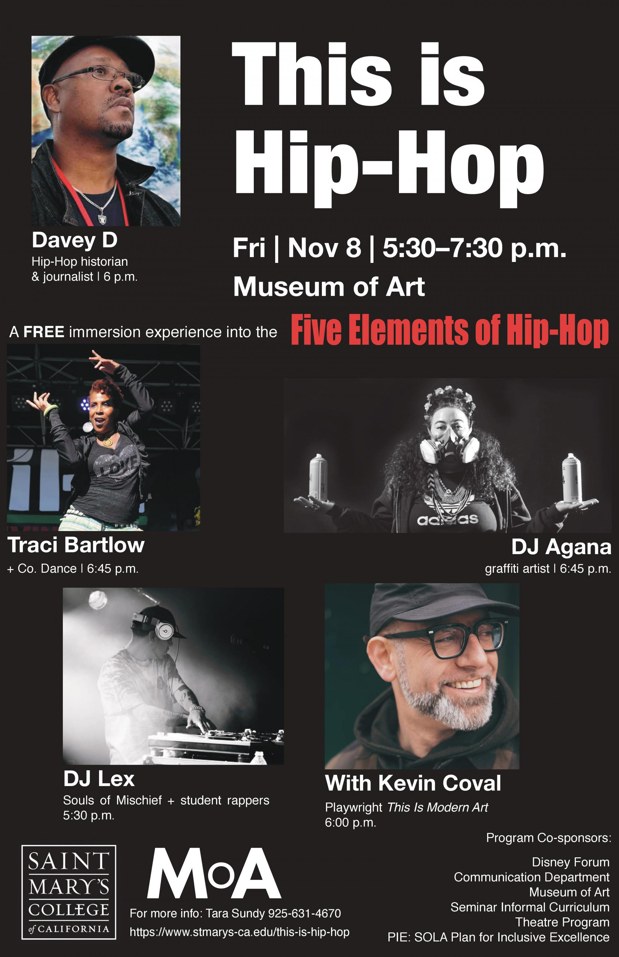 This is Hip-Hop Nov. 8 5:30-7:30pm SMC Museum of Art