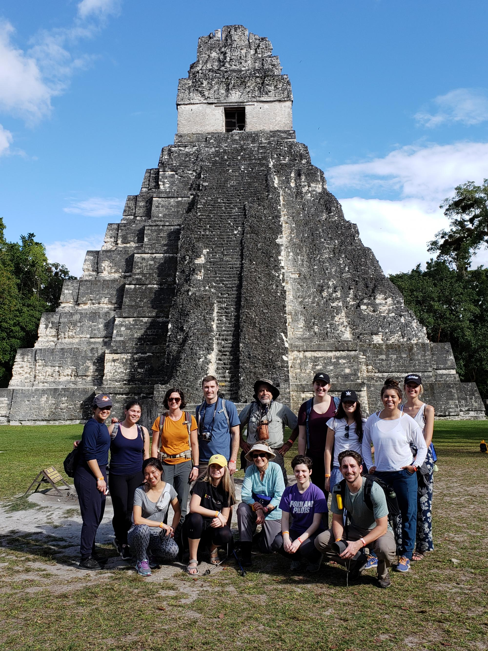 Profs Carla Bossard & Jessica Coyle's Tropical Environments and Culture in Central America class in Tikal, Guatamala.