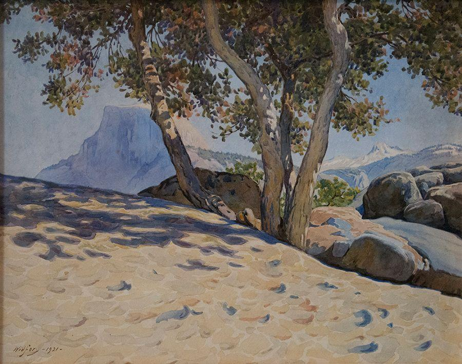 Gunnar Widforss, Half Dome, 1921, watercolor or paper, Collection of Roger and Kathy Carter