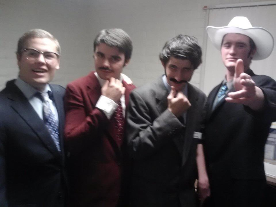 Anchormen (from left to righ) Evan Falco, Tommy Diecidue, John James and Donald Jennings.