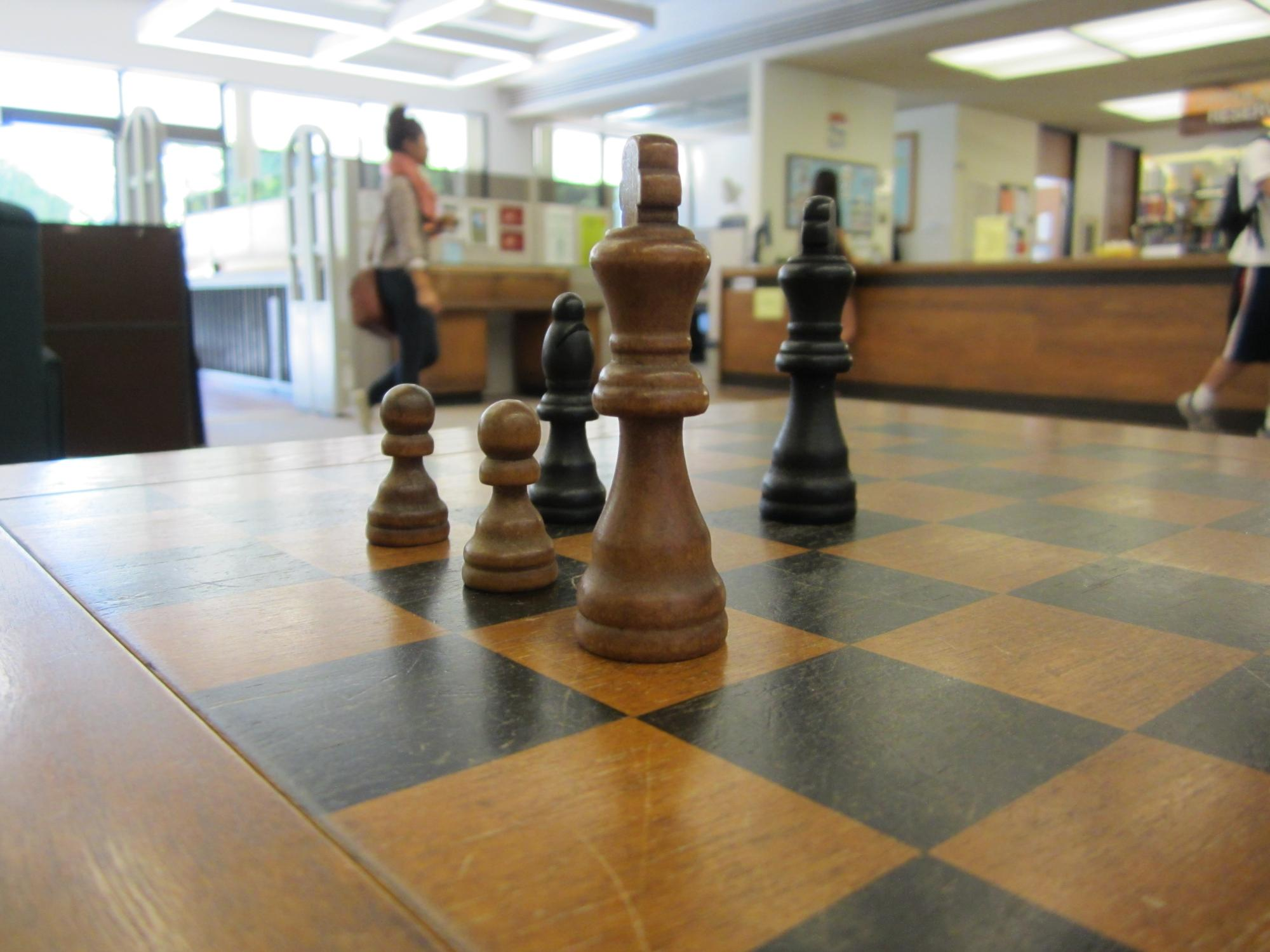 play chess in the library!